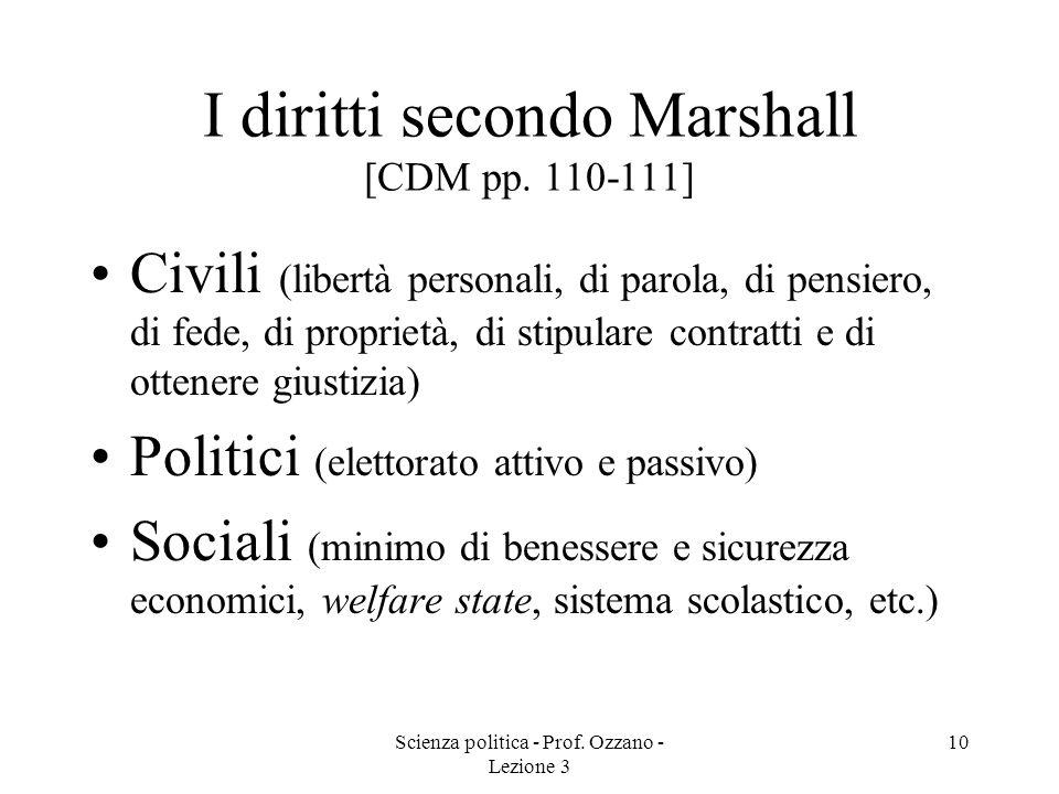 I diritti secondo Marshall [CDM pp. 110-111]